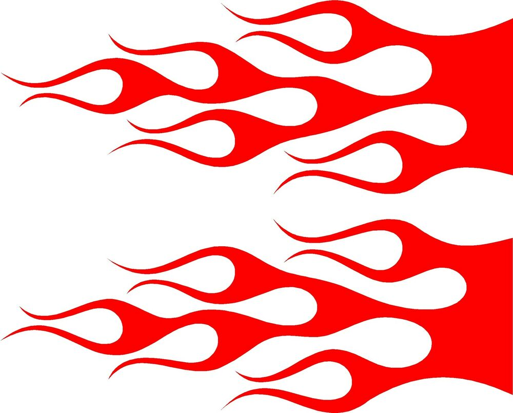 Flame Vinyl Vehicle Graphics Car Decals Or Motocycle X EBay - Flame stikers for car