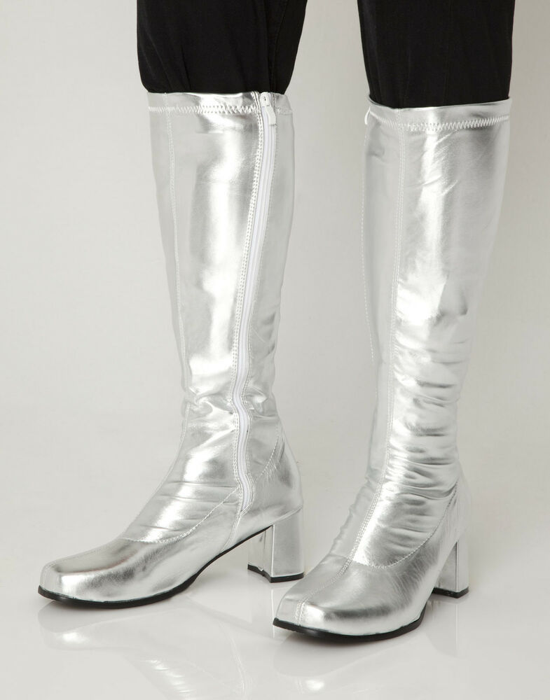 Silver Knee High & Platform Boots - 60s 70s Fashion Go Go ...