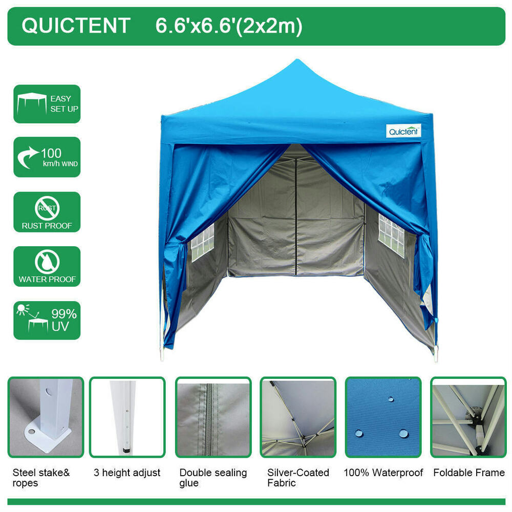 Quictent Silvox 174 6 6x6 6 Ez Pyramid Roofed Pop Up Canopy