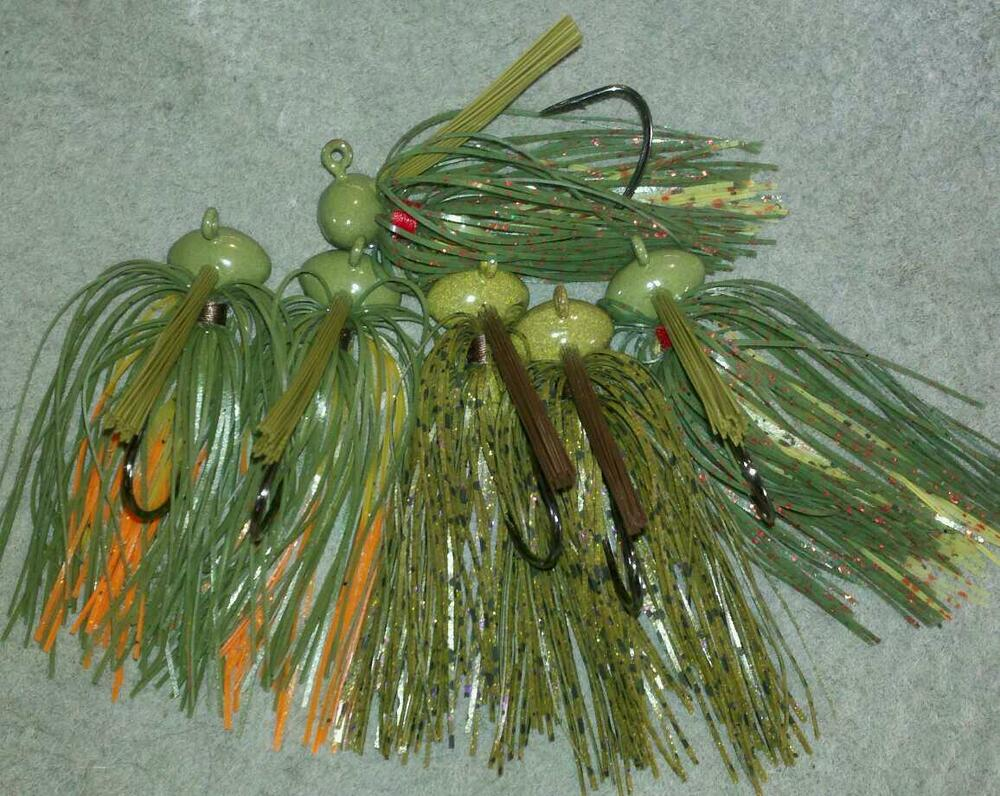 A c t lures 1 2oz football jigs hand tied 6 pack for Jig fishing lure