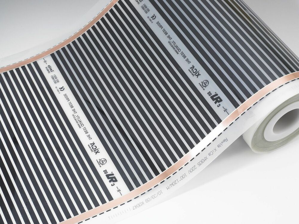 Carbon Warm Floor Heating Film For Any Floor 100 Sq Ft Ebay