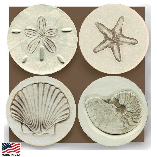 Sea shells assorted stone absorbent drink coasters ebay - Stone absorbent coasters ...