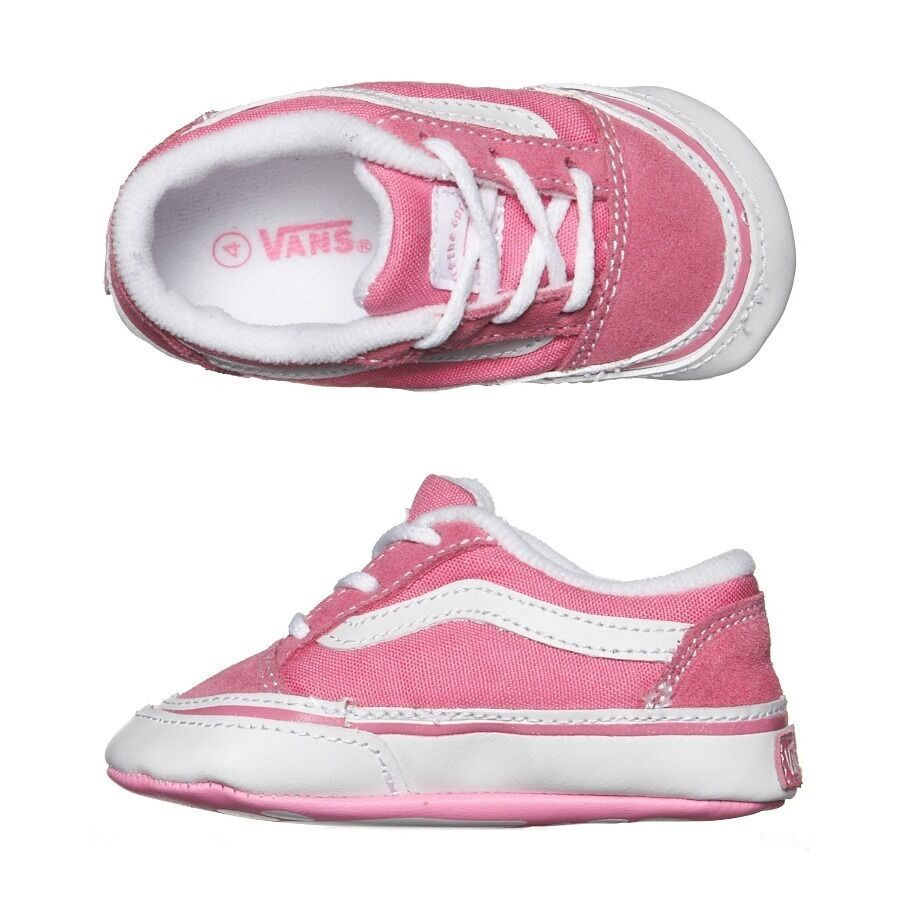 Vans Old Skool Baby Crib Shoes in Aurora Pink SOLID Size