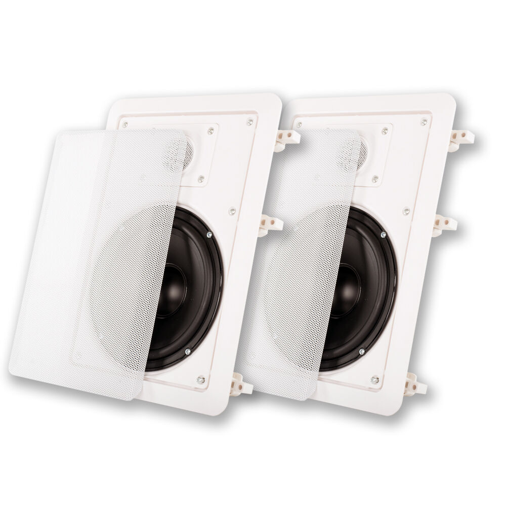 "NEW (2) 6.5"" In-wall Flush Mount Speaker Pair.Stereo"
