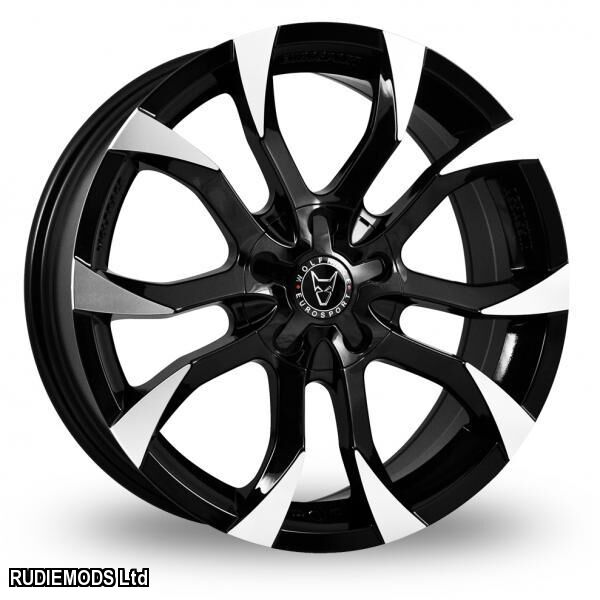 15 Wolfrace Assassin Black Polished Alloy Wheels X4 Renault Clio
