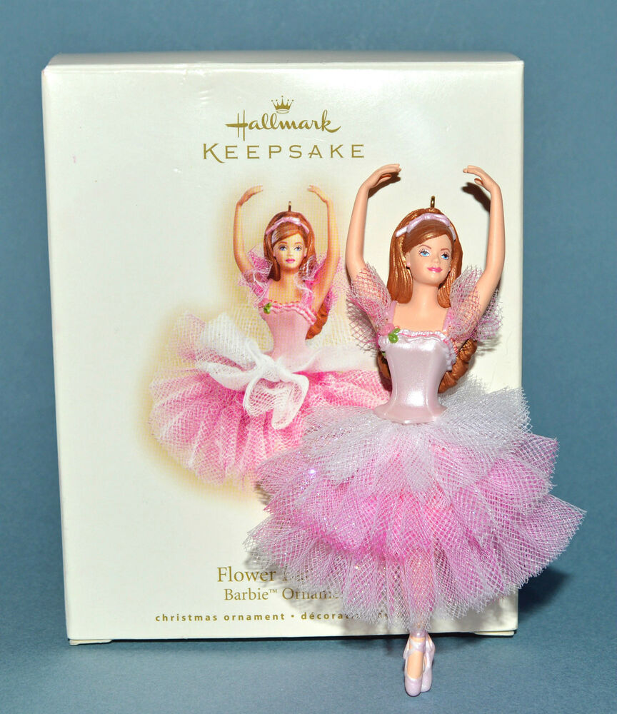 Hallmark keepsake flower ballerina barbie ornament 2007 Hallmark flowers