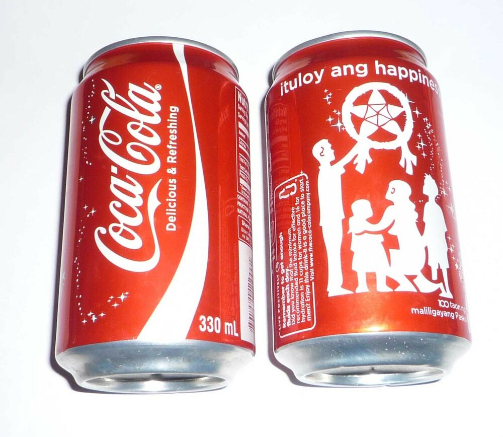 coca cola can philippines collectors can christmas 2012 ituloy ang happiness ebay. Black Bedroom Furniture Sets. Home Design Ideas