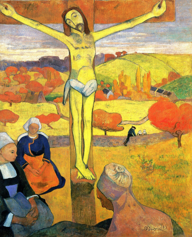 The Yellow Christ by Gauguin - Life of Jesus on Canvas | eBay