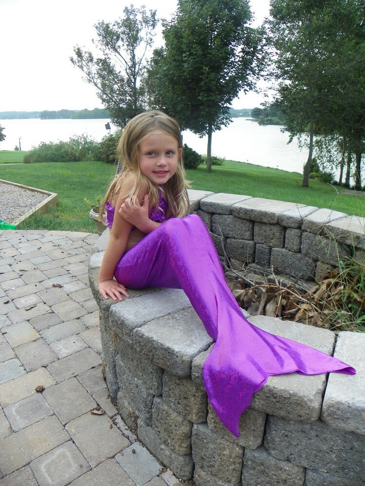 Custom Boutique Mystical Mermaid Tail In Purple Or Emerald