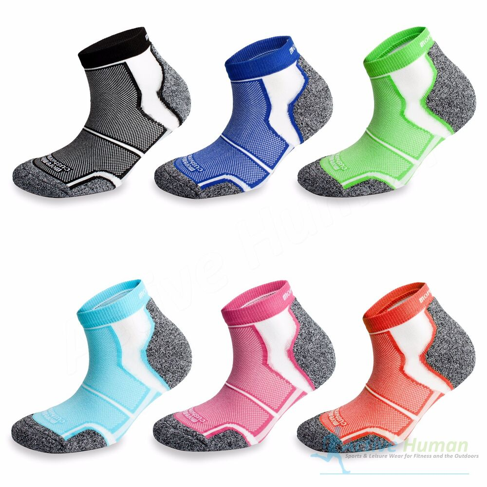 3 Pairs More Mile Cushioned Coolmax Sports Running Socks