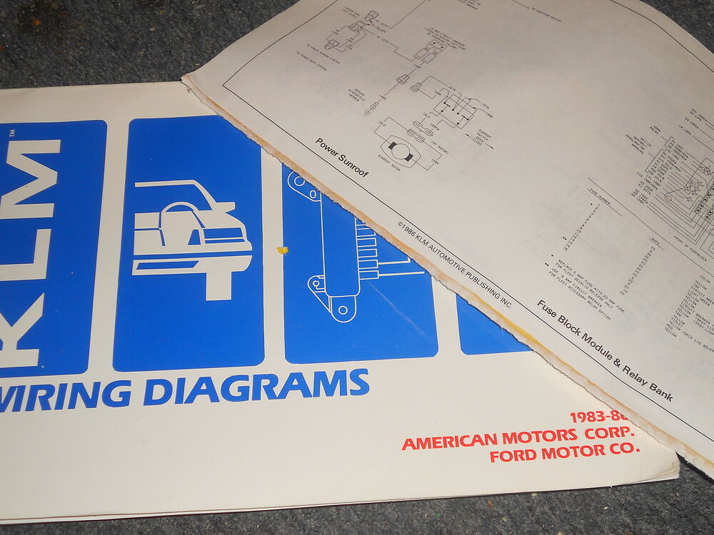 1983 1986 mercury topaz ford tempo wiring diagrams schematics manual sheets ebay