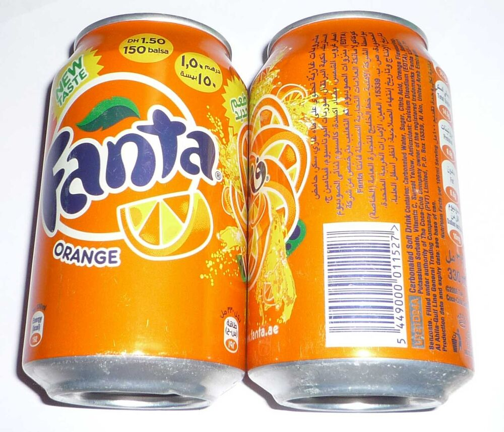 fanta can united arab emirates uae 330ml orange coca cola. Black Bedroom Furniture Sets. Home Design Ideas