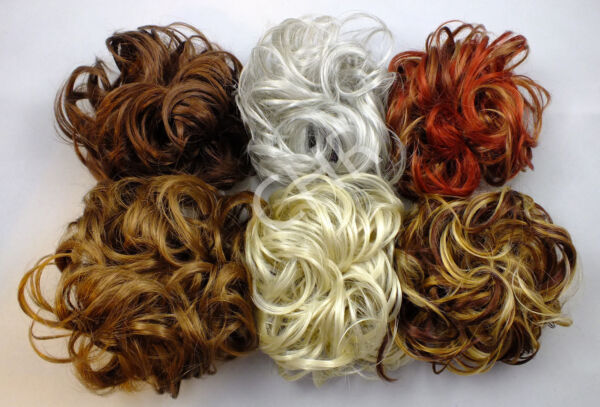 Ponytail Extensions Hair Bun Wrap Synthetic Scrunchie LACEY 3.5