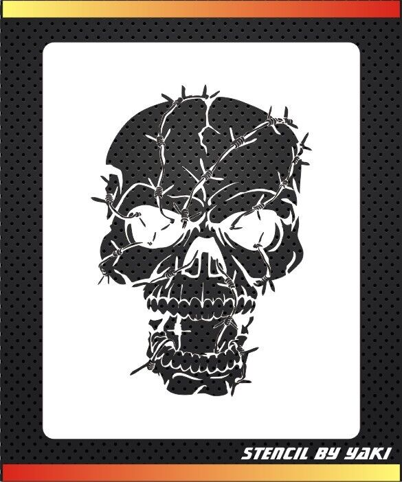 skull airbrush stencil template by yaki decoration tattoos