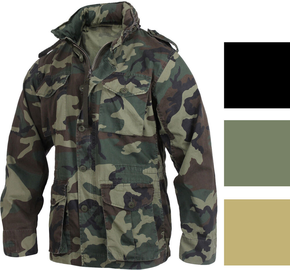 Lightweight Military M-65 Field Jacket Vintage Army Uniform Camo M65 Coat  ab5ae989280