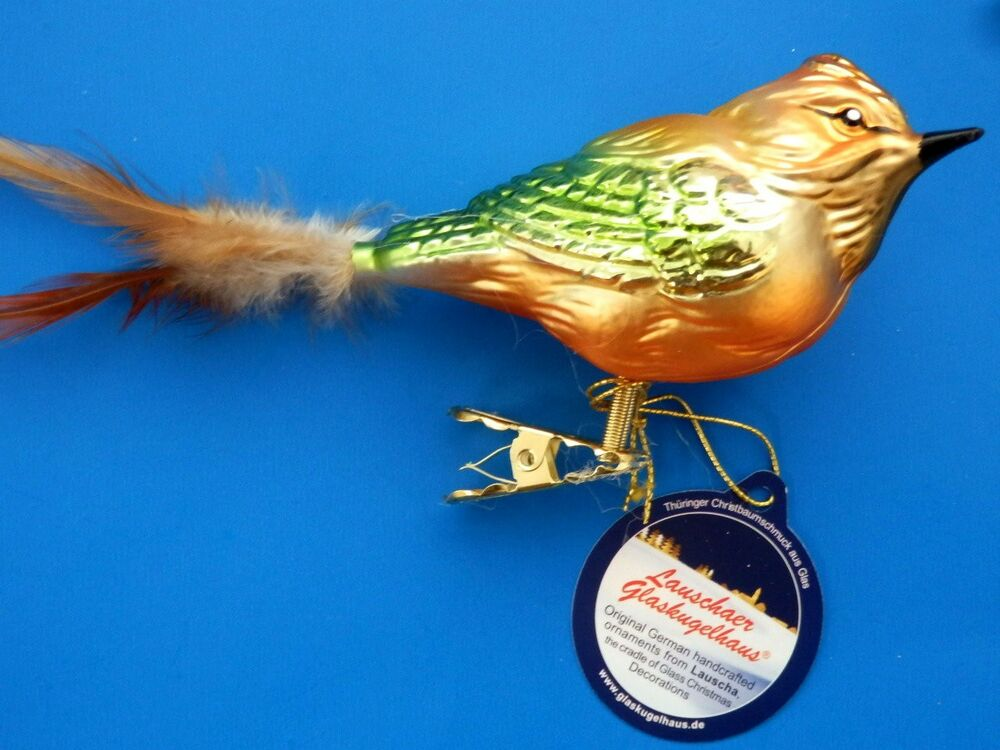 German Blown Glass Christmas Ornaments