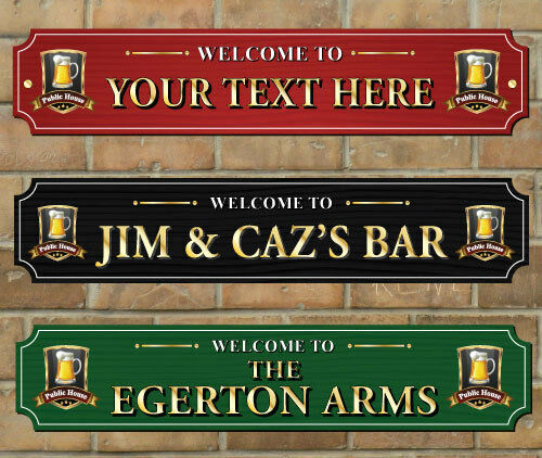 Home Bar Signs: Personalised Traditional Home Bar Sign, Pub Sign Ideal For