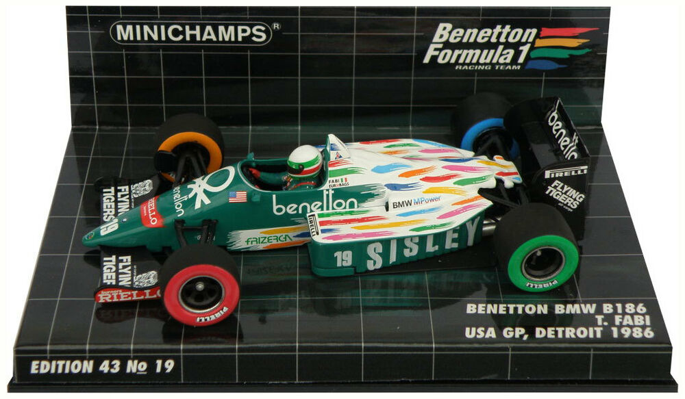 Minichamps benetton bmw b186 19 usa gp detroit 1986 teo for Benetton usa online shop