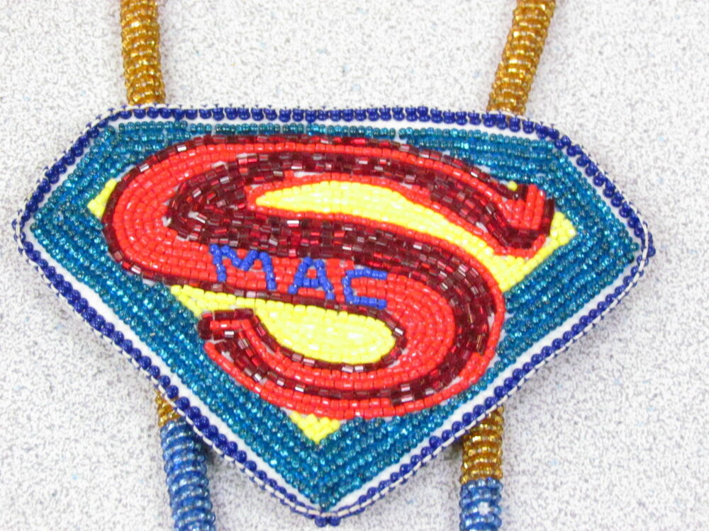 Native American Beaded Medallion With Super Mac Beaded