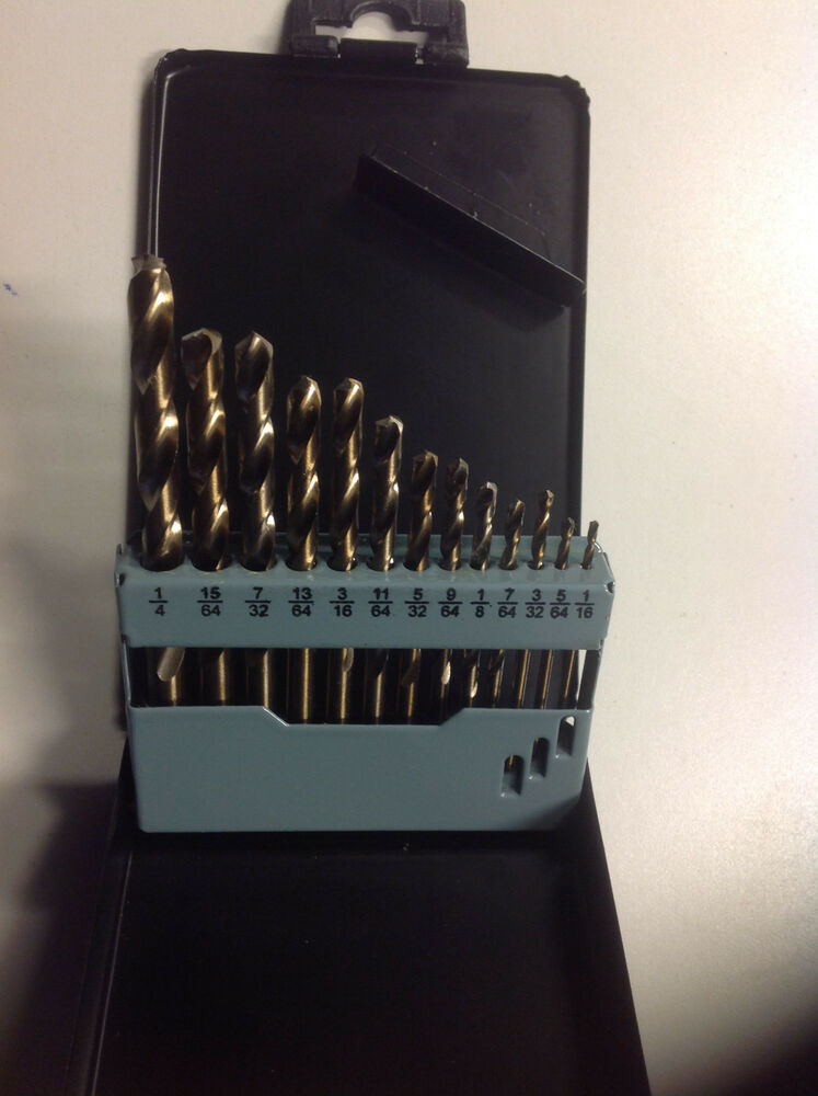 5mm Drill Bit >> 13 PC COBALT DRILL BIT SET MULTI BITS SAE | eBay