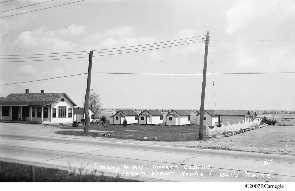 C 1940 Wells Maine Mary Amp Bill Modern Cabins Route 1