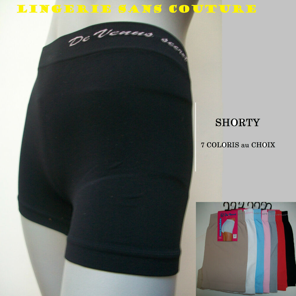 boxer shorty culotte slip sans couture femme fille en lycra ebay. Black Bedroom Furniture Sets. Home Design Ideas