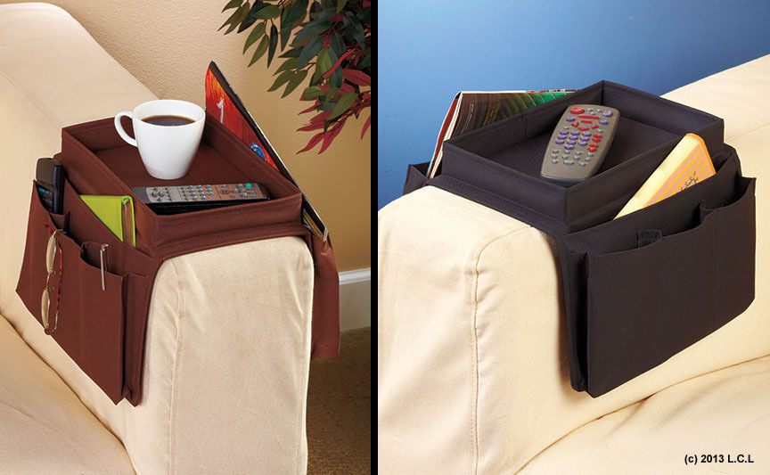 Set Of 2 Arm Rest Tray Organizers IN STOCK Sofa Chair