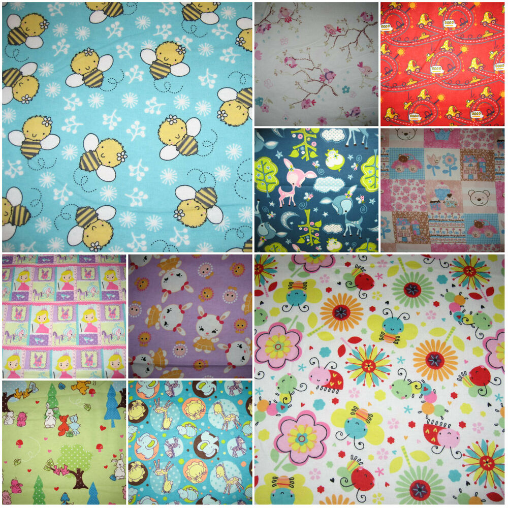 Camelot nursery baby designs 100 cotton flannel fabric for Nursery fabric