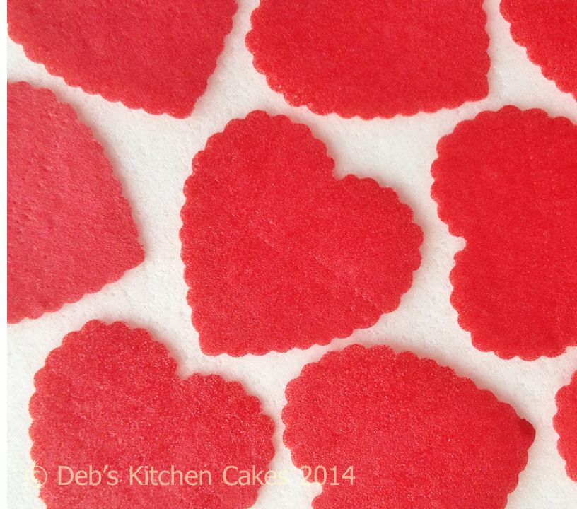 Edible Cake Decorations Hearts : Heart Cake Decorations Edible Wafer Stand Up Cupcake ...