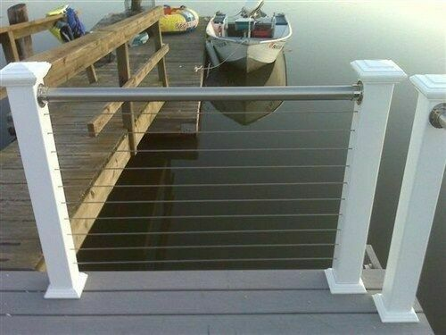 Stainless steel railing deck cable rail