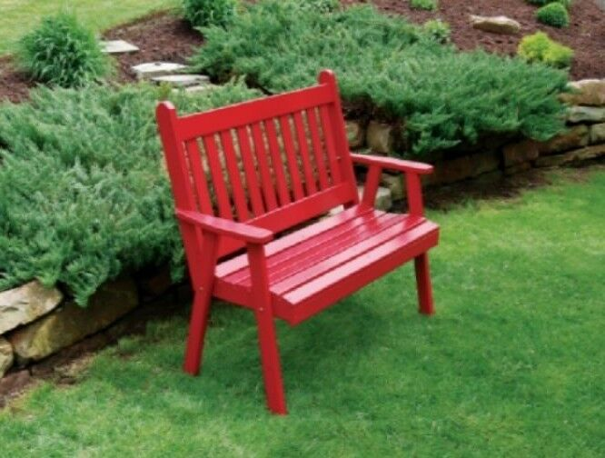 Outdoor 6 Traditional English Garden Bench 8 Paint