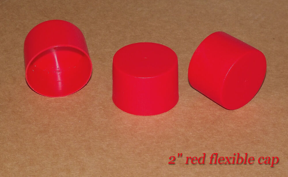 Quot inch red plastic end caps for rod postal tubes or