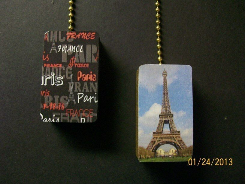 2 Paris France Eiffel Tower Ceiling Fan Pulls Ebay