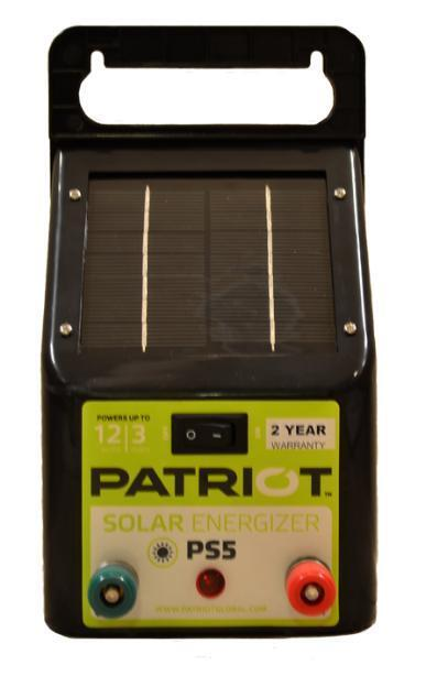 ★patriot Ps5 Solar Fencer★ Electric Fence Energizer