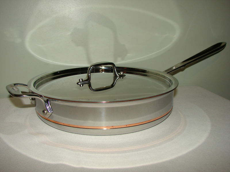New All Clad Copper Core 3 Qt Saute Pan With Lid First