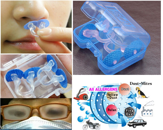 Nose Mask Hepa Nasal Filter Clean Breathe Relief Asthma