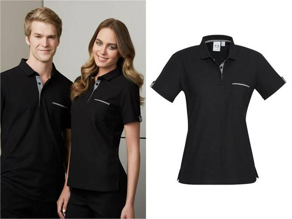 Edge womens polo shirt 6 24 casual workwear catering for Womens work shirts uniforms