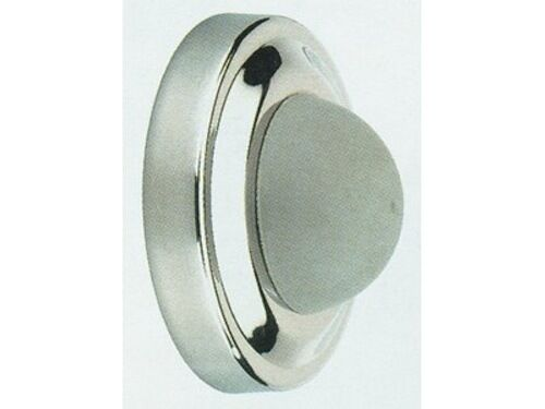 Wall Mount Bumper : Satin stainless steel wall mounted door stop rubber bumper