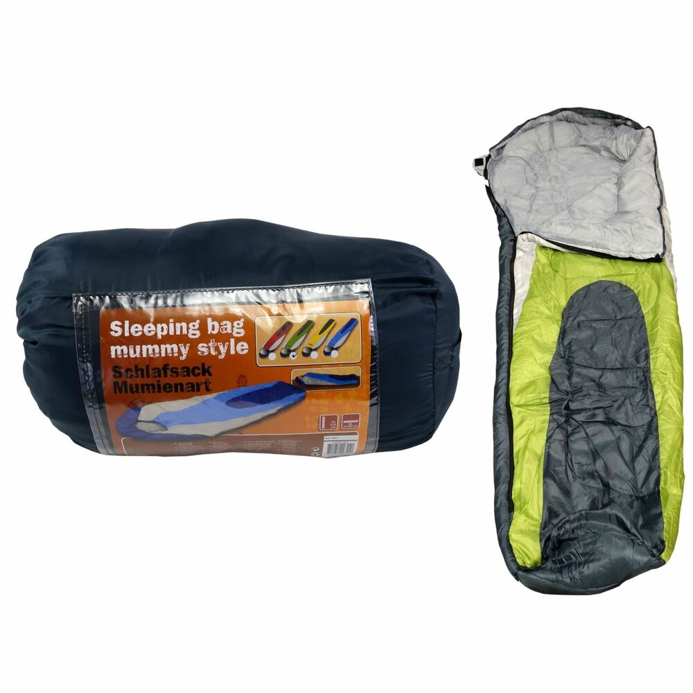 CAMP ACTIVE 200 MUMMY STYLE SLEEPING BAG CAMPING OUTDOOR ...
