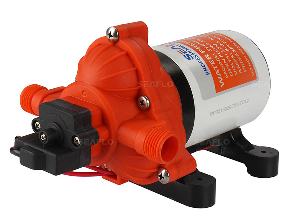 12v Water Diaphragm Pump 2 8 Gpm 45 Psi Rv Boat Marine