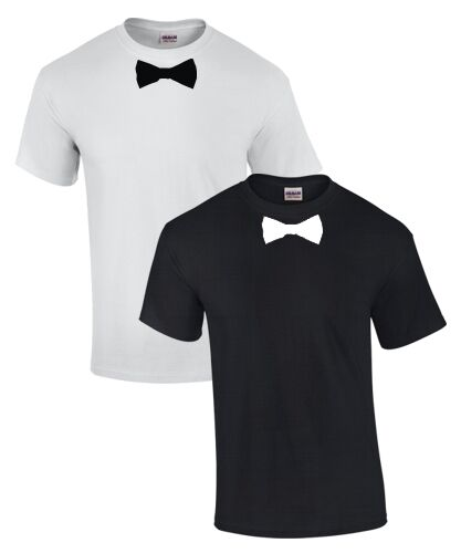 fun t shirt mit anzug fliege krawatte tuxedo verkleidung. Black Bedroom Furniture Sets. Home Design Ideas