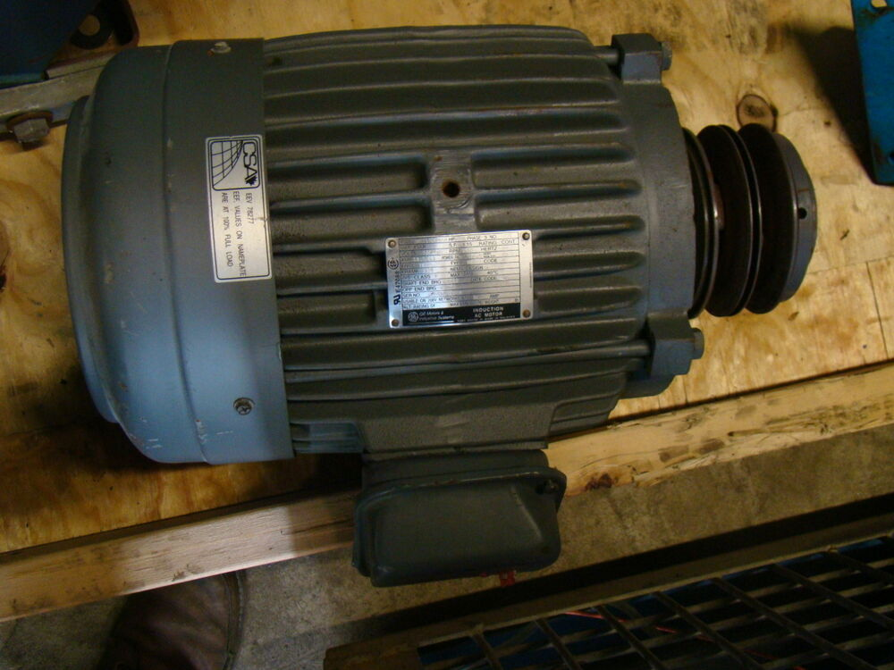 Ge 7 5hp Electric Motor 1755 Rpm 213t 230 460v
