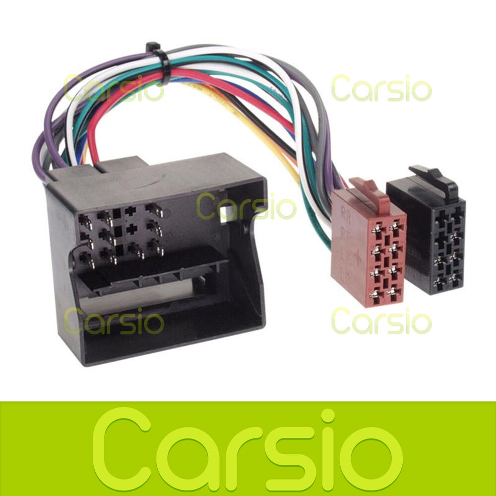 Skoda Octavia ISO Lead Wiring Harness Connector Stereo