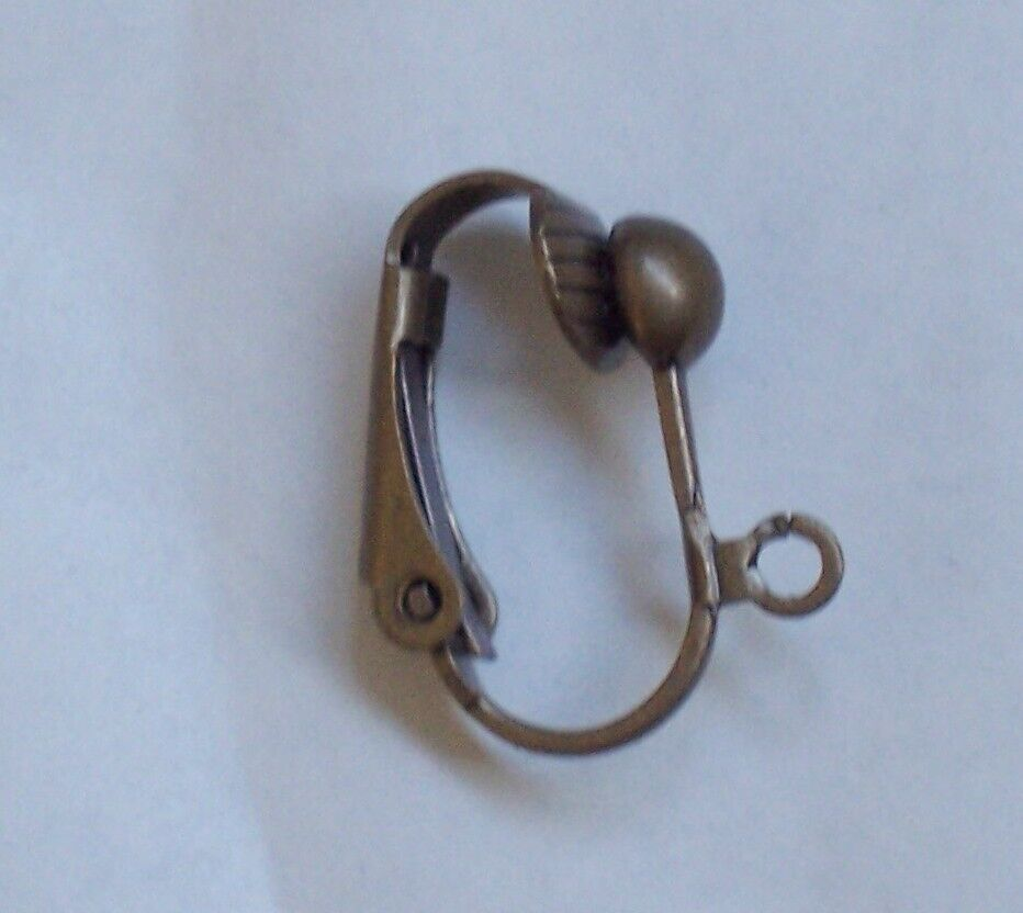 5 pairs antique bronze clip on earring findings ebay