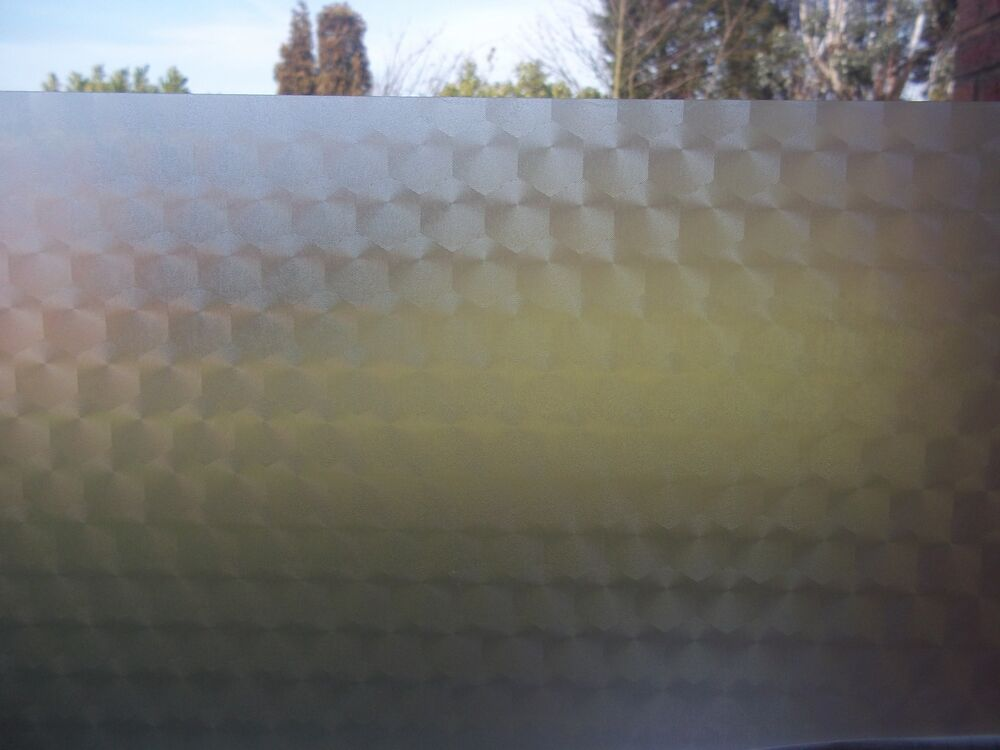 Frosted Deco Hex Glass Privacy Screen Sticky Back Plastic