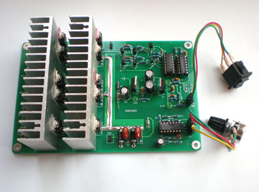 Dc motor speed control controller 12v 100a reversible ebay for Speed control electric motor