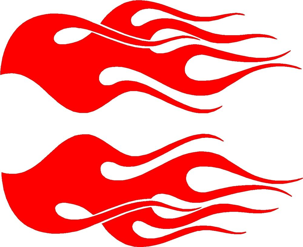Car Flames: Motorcycle Flame Vehicle Graphics Car Vinyl Decals (2