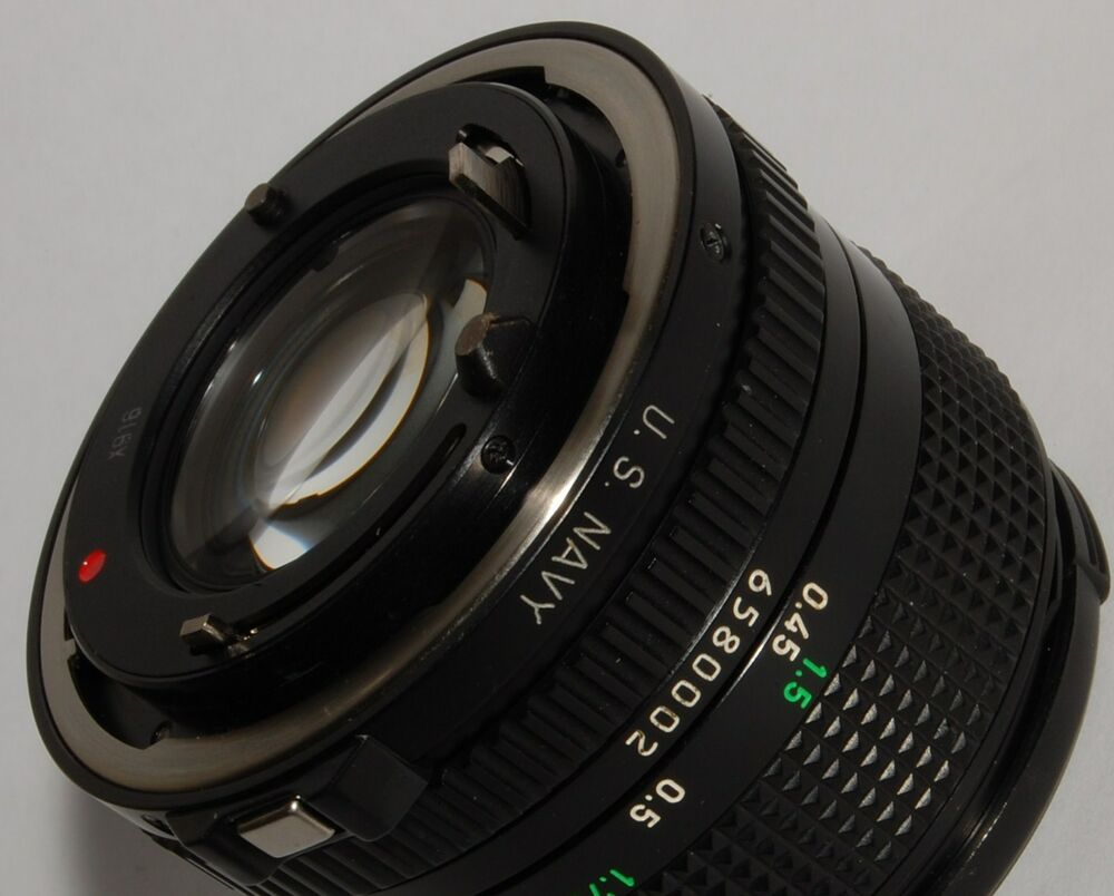 canon 50mm fd f  1 4 u s  navy lens for manual focus canon