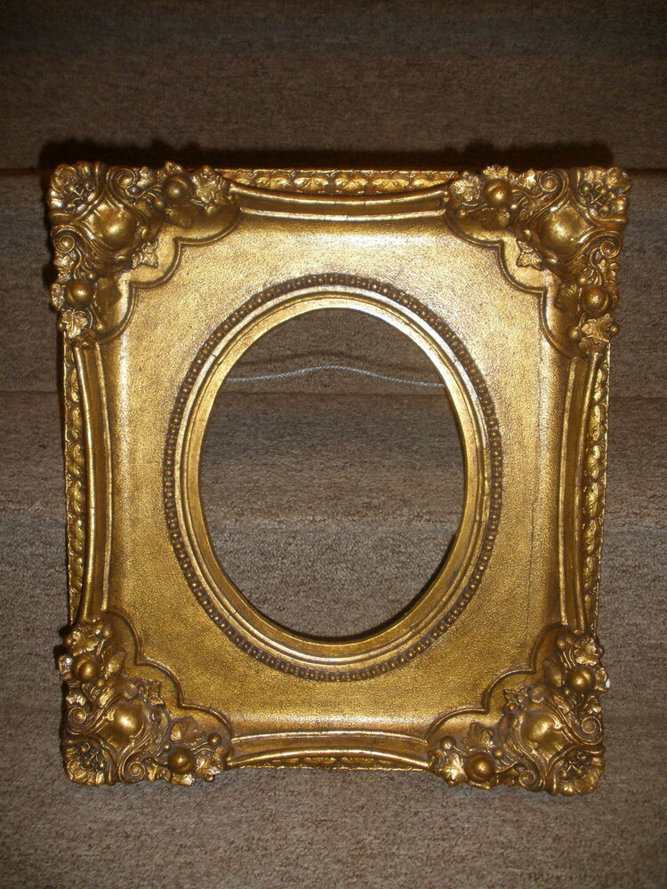 Nice Antique Wooden Frame 16 Quot X 14 Quot For Oval Painting 8 1