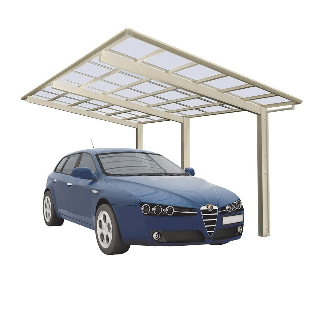 einzelcarport aluminium eloxiert carport edelstahl look unterstand 4950x2700 mm ebay. Black Bedroom Furniture Sets. Home Design Ideas